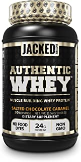 Authentic Whey Muscle Building Whey Protein Powder - Low Carb, Non-GMO, No Fillers, Mixes Perfectly - Delicious Salted Cho...