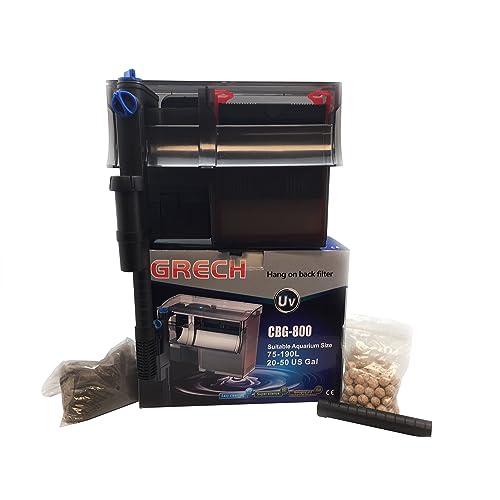 GRECH CBG-800 5W UV Sterilizer Hang-On Back Filter, 20-50