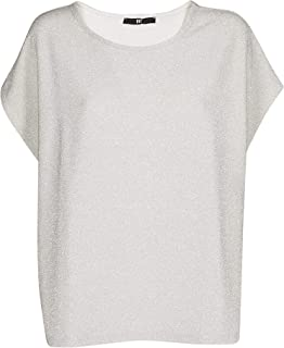FIT Luxury Fashion Womens 144412792ARGENTO Silver T-Shirt | Season Outlet