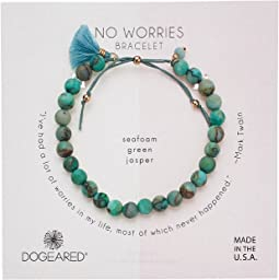 No Worries Bracelet, Matte Denim Lapis Bead Stone Bracelet with Nylon Pull Cord