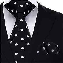 BIYINI Mens Tie Polka Dot Necktie and Pocket Square Set for Wedding Party