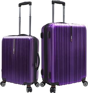 Traveler's Choice Tasmania 100% Pure Polycarbonate 2-Piece Spinner Luggage, Purple