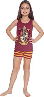 Harry Potter All House Crest Cotton Tank Top Pajama Short Set by Intimo