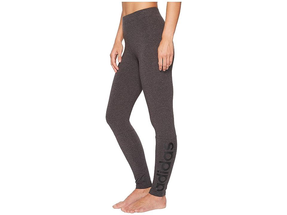 adidas Essentials Linear Tights (Dark Grey Heather/Black) Women