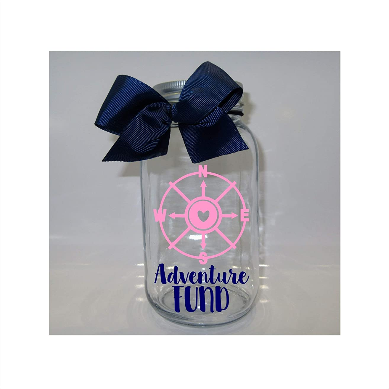 Adventure Fund Mason Jar Bank - Coin Slot Lid - Available in 3 Sizes