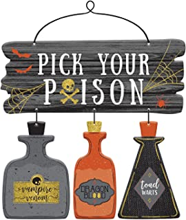 Amscan Pick Your Poison Deluxe Sign, Black