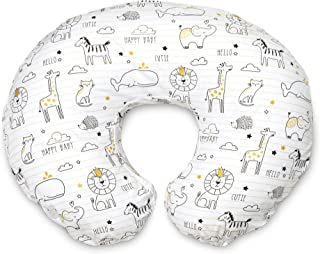 Boppy Original Nursing Pillow and Positioner, Notebook Black and Gold, Cotton Blend Fabric with allover fashion