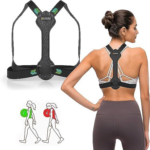 Posture Corrector for Men and Women - Adjustable Upper Back Brace for Clavicle Support, Back Straightener - Neck, Sho...