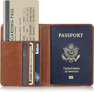 TDA Travel Passport Holder Wallet Multi-Purpose RFID Blocking ID Cards PU Leather Case Cover