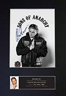 #589 Charlie Hunnam Sons of Anarchy Signed Autograph Photo Reproduction Print A4 Rare Perfect Birthday (297 x 210mm) (Not Framed)