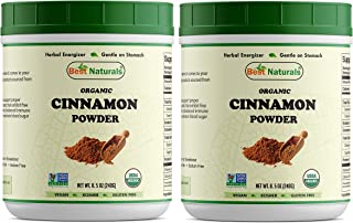 2 Pk - Best Naturals Certified Organic Cinnamon Powder 8.5 OZ (240 Gram), Non-GMO Project Verified & USDA Certified Organic (Total 480 Grams)