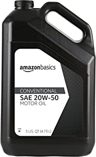 AmazonBasics Conventional Motor Oil, 20W-50, 5 Quart
