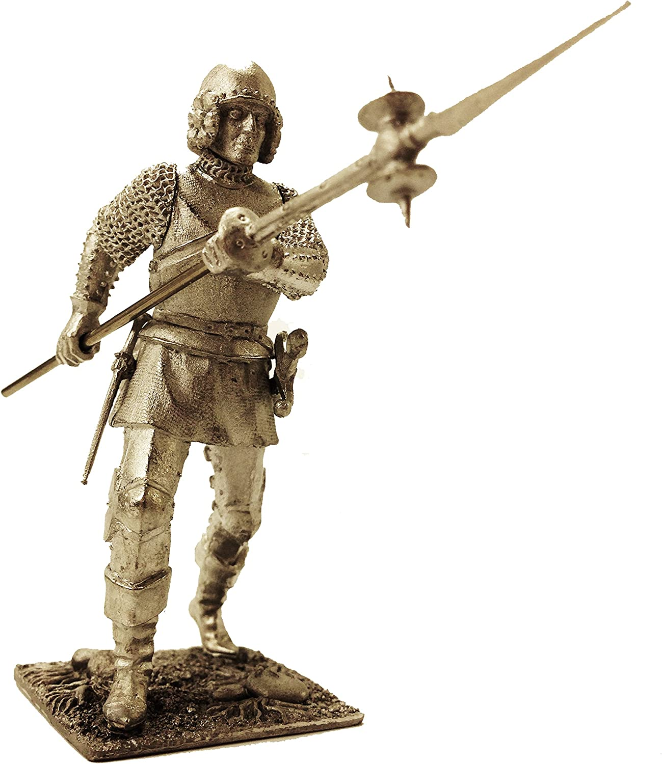 European Infantry 15 Century Mercenary Soldier Tin Metal 54mm Action Figures Toy Soldiers Size 1 32 Scale for Home Décor Accents Collectible Figurines Item  C5345.6