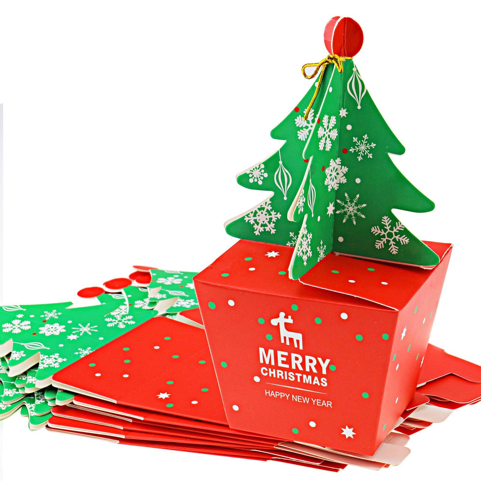 10 cajas de regalo de dulces para Navidad, 3D, estéreo, con árbol: Amazon.es: Bricolaje y herramientas