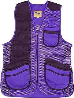 MizMac Women's Shooting Vest - Purple with Black Leather