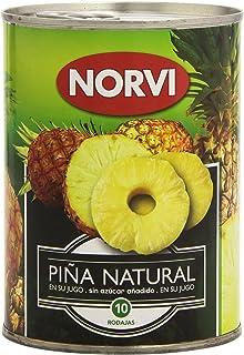 Norvi Piña Natural en su Jugo, Sin Azúcar Añadido - 560 g