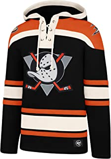 """47Brand NHL Anaheim Mighty Ducks Lacer Logo Hoody Hooded Sweater Pullover Sweatshirt"