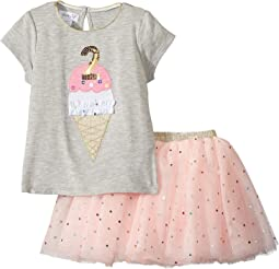 Mud Pie - 2nd Birthday Confetti Two-Piece Tutu Set (Toddler)