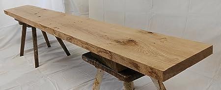 Eichenbretter beidseitig gehobelt L/änge 80cm Breite 20-29cm Dicke 2,0-2,3cm