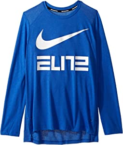 Dry Elite Basketball Long Sleeve Top (Little Kids/Big Kids)
