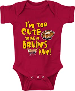 Smack Apparel SoCal Football Fans. Too Cute (Anti-Bruins) Onesie (NB-18M) or Toddler Tee (2T-4T)