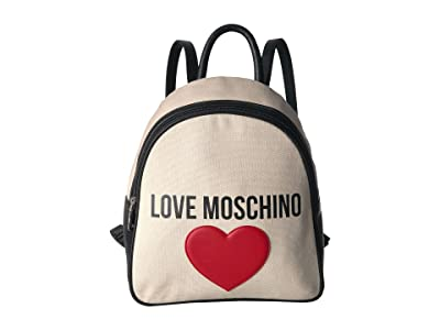 LOVE Moschino Canvas Backpack (Ivory) Backpack Bags