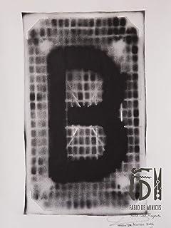 Letra B ABC Hort por Fabio De Minicis - Lienzo original 1/7-50 x 70 cm.