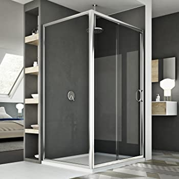 140x80x195cm Mamparas de ducha cabina de ducha 8mm vidrio templado ...