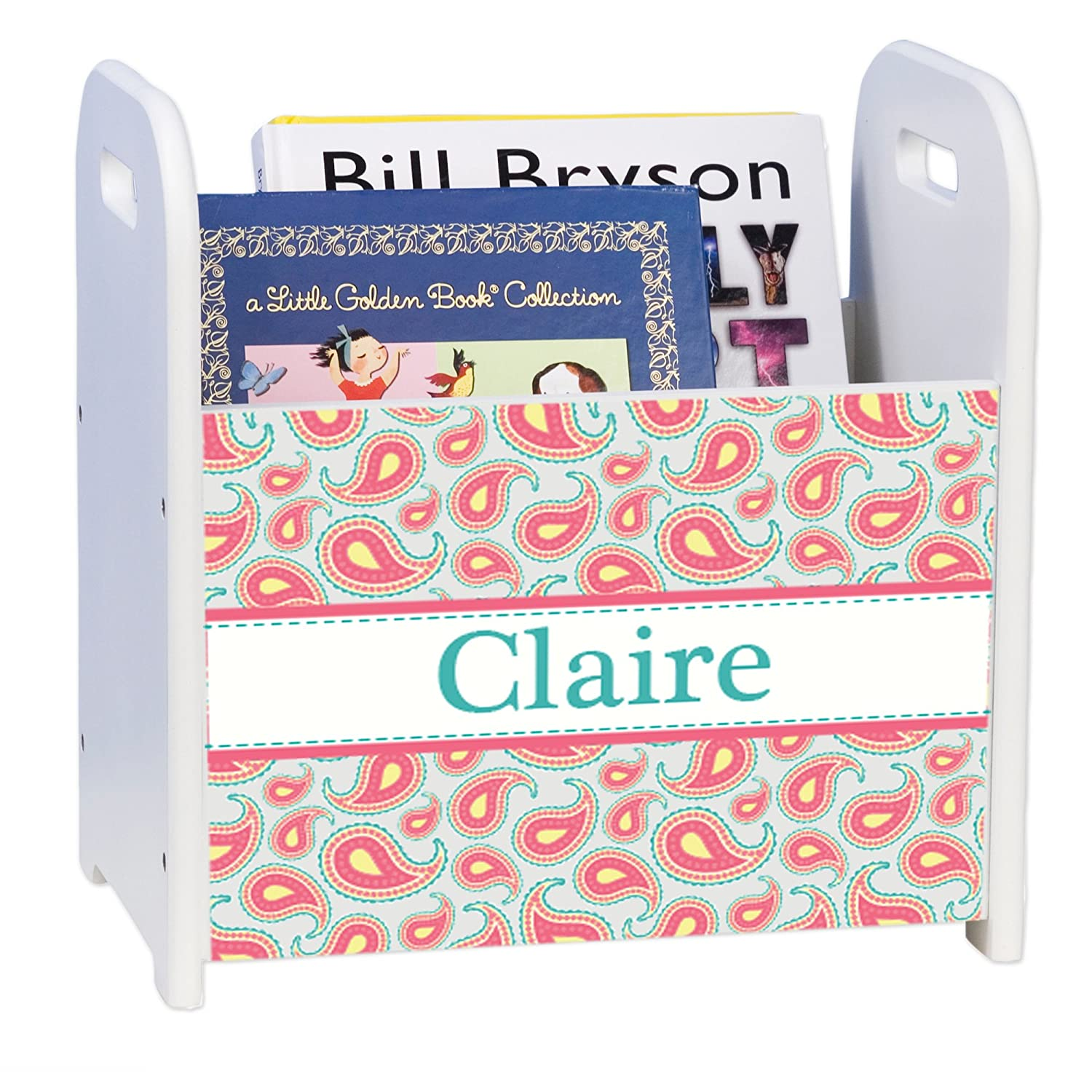 Personalized Paisley Aqua Coral Discount mail order White Max 41% OFF and Caddy Rack Book
