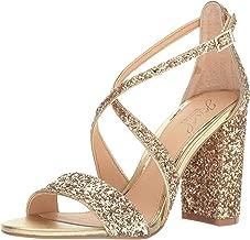 Jewel Badgley Mischka Women's Cook Dress Sandal, Gold Glitter, 7.5 M US