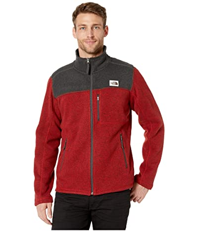 The North Face Gordon Lyons Full Zip (Cardinal Red Heather/TNF Dark Grey Heather) Men