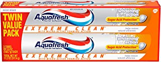 Aquafresh Extreme Clean Whitening Action Fluoride Toothpaste for Cavity Protection, 5.6 Twinpack (two 5.6oz tubes) No flav...