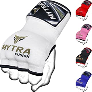 Mytra Inner Gloves Hand Wraps Boxing Hybrid Gloves Inner Gloves Boxing MMA Muay Thai Gym Workout Hand Wraps Gel Inner Gloves Fingerless Gloves Bandages Mitts Hand Protector.