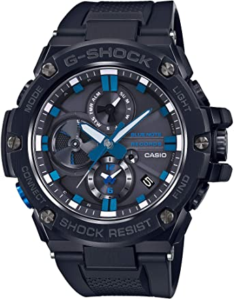 [カシオ]CASIO 腕時計 G-SHOCK ジーショック G-STEEL BLUE NOTE RECORDS コラボレーションモデル GST-B100BNR-1AJR メンズ
