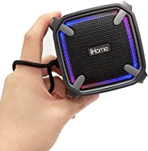 iHome Weather Tough Portable Rechargeable Bluetooth Speaker with Speakerphone and LED..