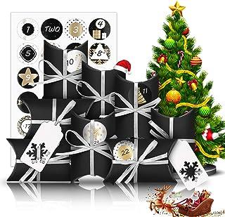 Molbory Calendrier de l'Avent à remplir, 24 sachets de calendrier de l'avent Petit coffret cadeau avec 1–24 chiffres de l'...