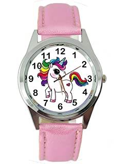 Unicorn Leather Band Quartz Watch E2+ Spare Battery + Gift Bag