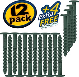 Window Shutters Panel Peg Loks 3 inch 12 pack (Forest Green)Buy One Bag of 12 Loks and Get 4 Extra Shutter Peg Loks FREE