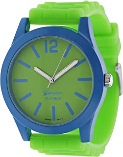 Women's Neon Pop Watch Color: Lime and Blue