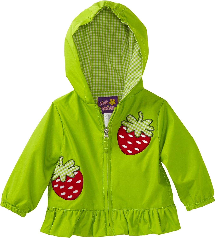Pink Platinum Baby Girls' Zip Front Strawberry Jacket