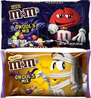 M&M Ghouls Mix Halloween Candy Assortment Variety - Spooky Colors Milk Chocolate and Peanut MMs - Fun Seasonal MM Candies (2 Bags Total) - 11.4 oz