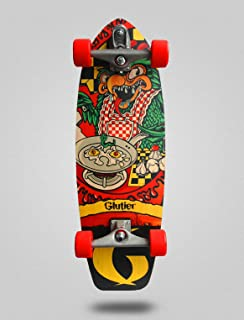 Glutier Surfskate Green Top 31 with T12 Surf Skate...