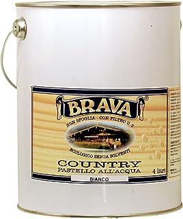 Brava coub40Country Pastel para madera al agua blanco 4000ml
