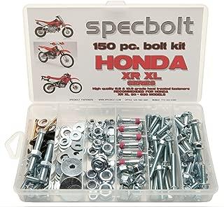 150pc Specbolt Brand Bolt Kit for Maintenance Dirtbike Fasteners fits: Honda XR50 XR80 XR100 XR185 XR200 XR250 XR400 XR500 XR600 XR650 and XR XL Models 50 80 100 185 200 250 400 500 600 650