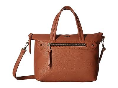 Vans Easy Does It Satchel (Saddle/Antique Brass) Satchel Handbags