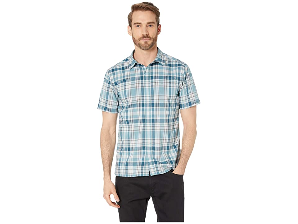 Royal Robbins Monument Plaid Short Sleeve Shirt (Legion Blue) Men
