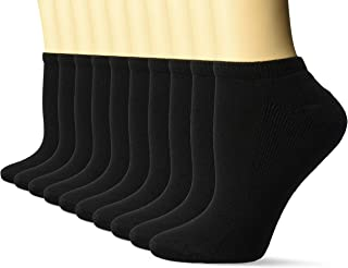 Women's 10-Pack Cotton Lightly Cushioned No-Show Socks