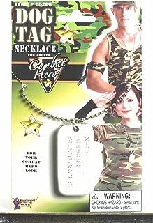 Forum Novelties Army Military Combat Hero Costume Dog Tag Necklace