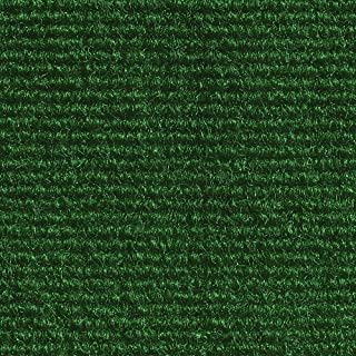 House, Home and More Indoor Outdoor Carpet with Rubber Marine Backing - Green - 6 Feet x 20 Feet
