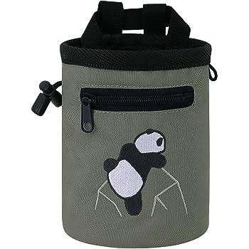 AMC Rock Climbing Panda Design Chalk Bag with Adjustable Belt
